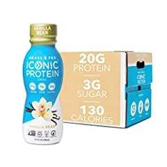 High quality, truly grass fed Protein drinks: each ICONic Protein Shake boasts 20 grams of complete Protein from grass fed whey and casein to fill you up without slowing you down. Our lactose-free protein shakes are Non-GMO Project Verified, lactose ...