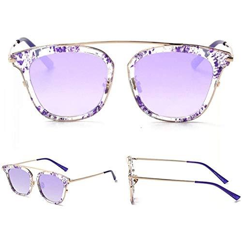 ZHANG Personalidad Gafas de Sol de Cara Redonda Retro Gafas de Sol Que Conducen Europa y América Gafas de Sol Retro Sol,B