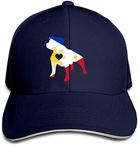 ZYZYY Berretto da baseball unisex Love Dog Filippine Bandiera Trucker Cap regolabile con visiera
