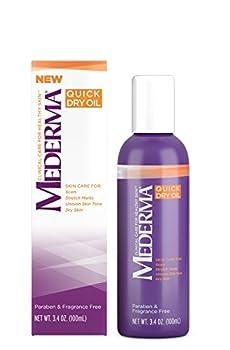 Mederma Skin Care Quick Dry Oil for Stretch Marks 3.4 Oz