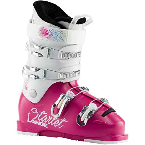 Lange Starlet 60 Kinder Skischuhe, Magenta Sparkle Wht, 23,5 Mondopoint (cm)