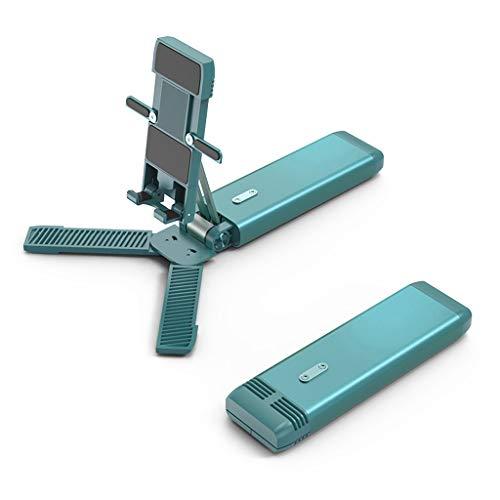 YWSZJ Nuevo Mini Mini One Plegable Ajustar el Escritorio del Titular del teléfono móvil para el Soporte de Escritorio Smartphone y Soporte de tabletas (Color : Green)