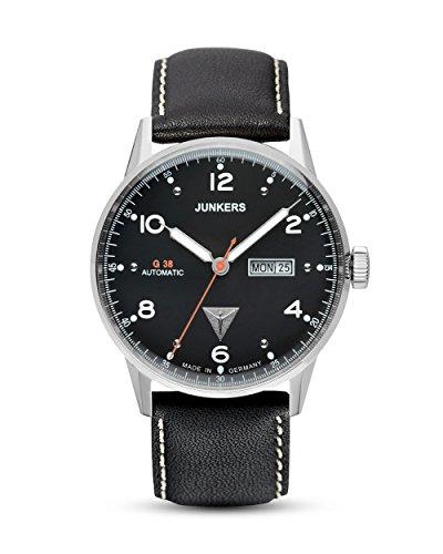 Junkers Herren Analog Automatik Uhr mit Leder Armband 69662
