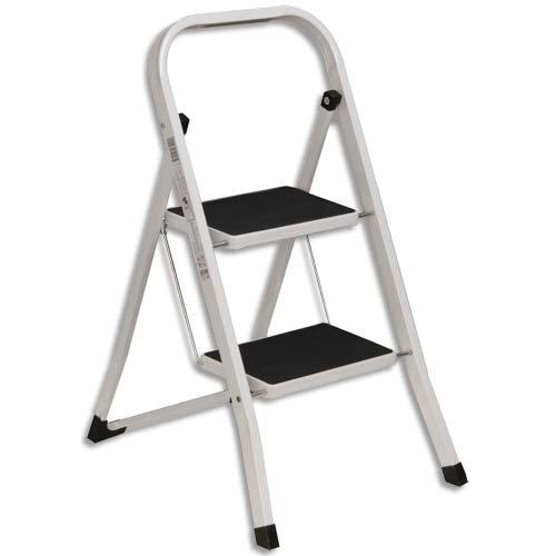 Safetool 3702.00 – Ad – Escalera 2 peldaños acero epoxi blanco: Amazon.es: Oficina y papelería