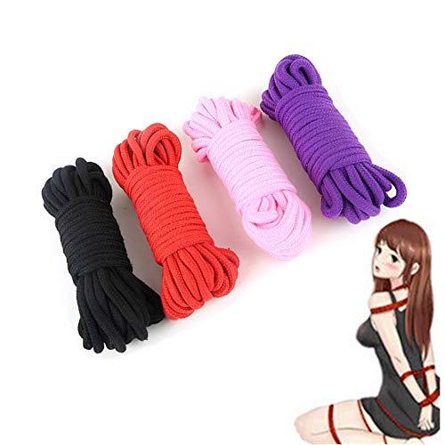 N-Keoboo Cuerda de algodón Suave versátil de 4 Piezas - Adecuado para...