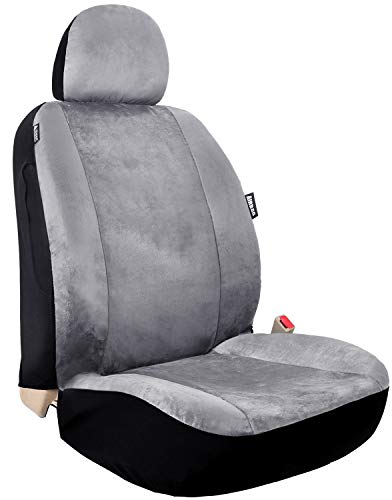 Leader Accessories R8 Coupe Vinyl Single Black Seat Cover Universal Fits Cars Truck SUV Front Seats...