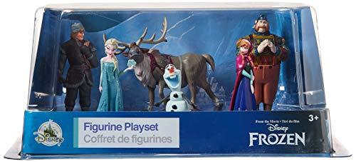 Disney Frozen Figurine Play set - Sven, Anna, Elsa, Kristoff, Oaken and Olaf. (6 Piece)