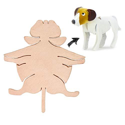 Monkimau Jack Russell Terrier figuur hond van leer om zelf te maken