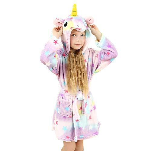wgde toy Spielzeug für 2-3 jährige Mädchen, Weich Einhorn Kapuzen Bademantel Nachtwäsche für Kinder Einhorn Spielzeug für 2-3 jährige Mädchen Einhorn Geschenke für 2-3 jährige Mädchen