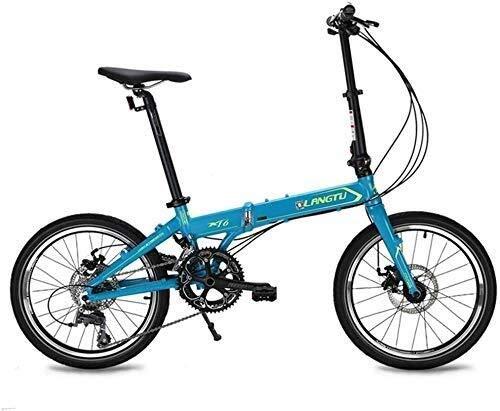 MYERZI Absorción de Impacto Bicicletas for niños Montar en bicicleta Bicicletas for niños Bicicleta for niños Bicicleta interior y al aire libre Bicicleta for deportes de 20 pulgadas (Color: Azul, Tam