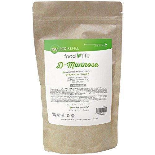 D-Mannose poudre | Testé en LABORATOIRE et CERTIFIÉ | 100g Pack de 2 mois | Poudre 100% pure| Végétalien | SANS ADDITIFS | Emballé dans des plantes certifiées ISO | Des ingrédients naturels pour la vessie