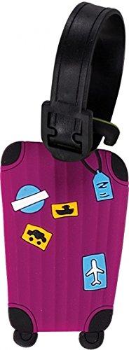 Fabrizio étiquettes Valise 9 x 5,5 cm Violet 2 pièces