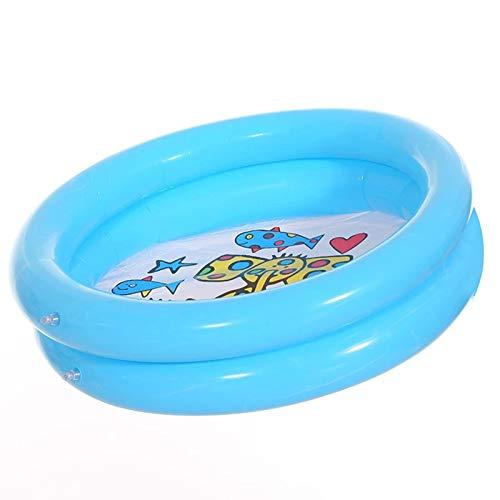 ASPZQ Niños Portátil Ronda Bañera Inflable Piscina Bebé Nadando Piscina de Bolas Juego Verano para Niños Baño Juguetes Acuáticos Al Aire Libre Uso Doméstico (Color : Blue, Size : 65cm)