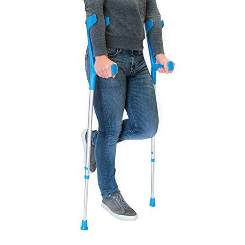 PEPE-MULETAS, Muletas adulto regulables aluminio, Muletas ortopédicas, Muletas adulto regulables, Muleta azul, Pack 2 unidades 🔥