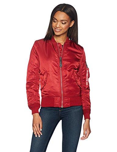 Womens Red Flight Bomber Jacket