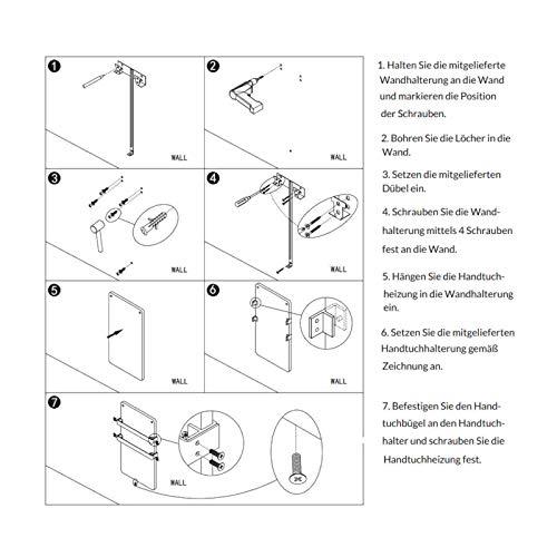 44x86cm Bad-heizkörper mit Handtuchhalter Edelstahl Heizung Handtuch-trockner kaufen  Bild 1*