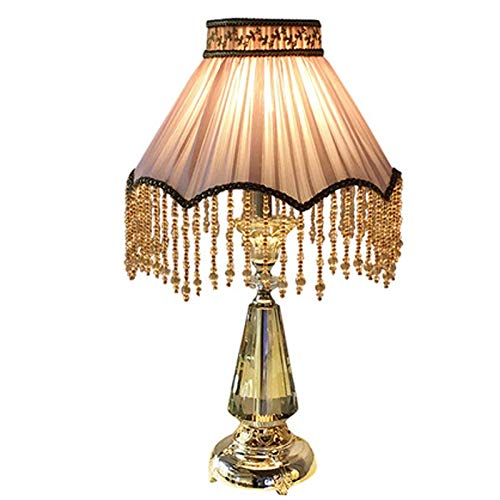 CHNOI Tabla de Lectura Resina pequeña lámpara de Mesa lámpara de Mesa Sala de Estar y Sencilla Tela/Dormitorio