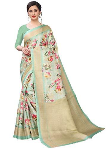 BHAKARWADi Women's Khadi silk Saree with Blouse Piece (321_Variation)