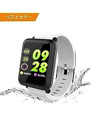 【3/30まで】最新版スマートウォッチ 活動量計 歩数計 心拍計 着信電話通知 smart watch