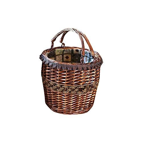 OH Kitchen Multipurpose Storage Hamper Egg Basket Restaurant Bread Basket Wine Basket Get Together Camping Picnic Basket Wicker Basket Child Carry Basket Xmas Hamper Basket/L