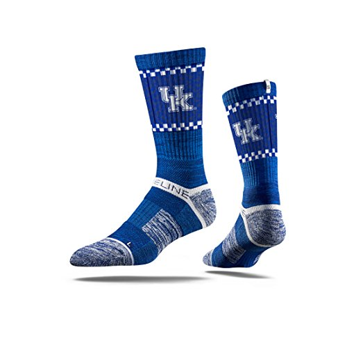 NCAA Men's Kentucky Wildcats Strideline Crew Socks, Blue, One Size