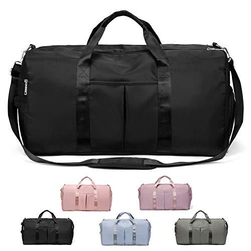 FEDUAN das Original, Sporttasche Reisetasche modisch wasserdicht mit Schuhfach Nassfach für Damen und Herren Yoga Pilates Strand Freizeit Sauna Gym-Tasche Shopping-Bag Weekender Urlaub (XL schwarz)