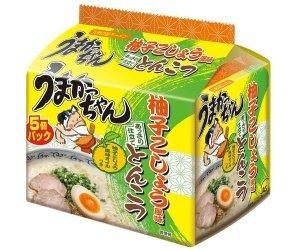 うまかっちゃん<柚子こしょう風味とんこつ> あっさり仕立て 柚子こしょう風味オイルつき 5個パック(期間限定発売品)