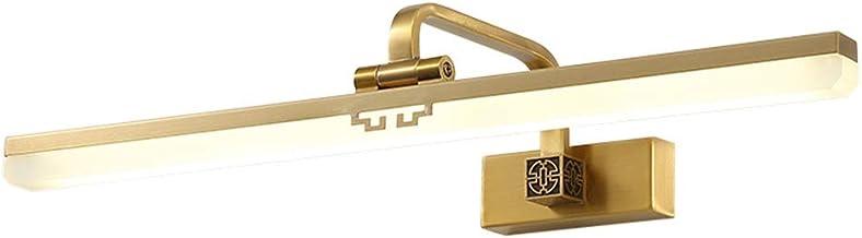 Led-spiegellamp met spiegel vooraan van zinklegering met goudkleurige led-make-uplamp voor wandlamp met spiegellamp