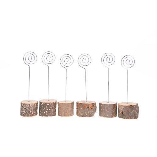 Whitelotous 6 PCS Creative Wooden Clips, Bark Tree Crafts Ornaments Clip, Stump Card Clip ,Photo Clip