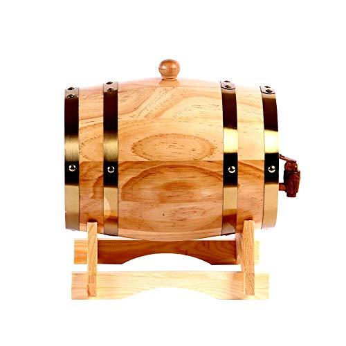 Barril de vino duradero barril de vino de roble 3L 100L vino blanco barril de vino decoración del hogar barril barril de cerveza de roble (tamaño: 10L)