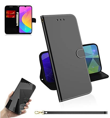 Snow Color Xiaomi Mi A3 Hülle, Premium Leder Tasche Flip Wallet Case [Standfunktion] [Kartenfächern] PU-Leder Schutzhülle Brieftasche Handyhülle für Xiaomi MiA3 - COTX030542 Schwarz