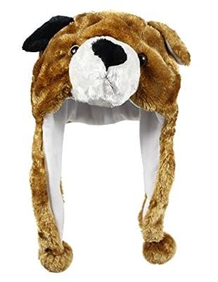 Bioterti Plush Fun Animal Hats One Size Cap Polyester Fleece Lining