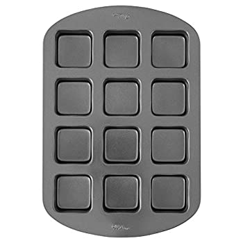 Wilton Perfect Results Premium Non-Stick Bakeware Bar Baking Pan Ideal for Brownies Cakes and Bar-Cookies 12-Cavity