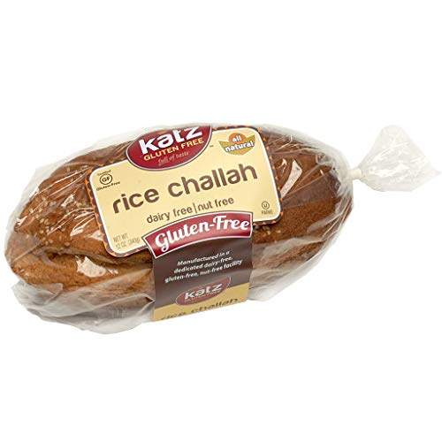 Katz Gluten Free Rice Challah | Dairy Free, Nut Free, Gluten Free | Kosher (1 Pack of 1 Loaf, 12 Ounce)