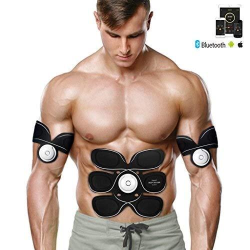 AZHom Elettrico Stimolanti SME Addominale Trainer, Addominale Regolabile Allenamento Cintura Gym