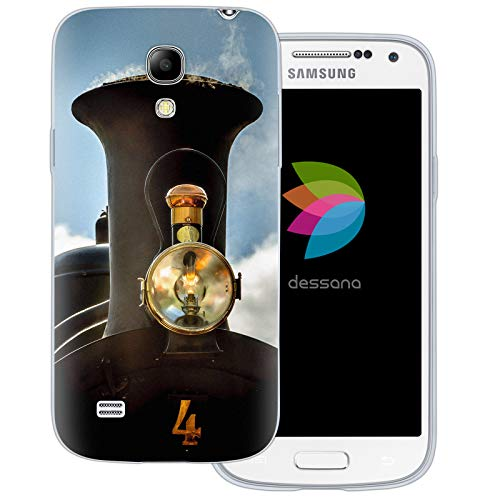 dessana Locomotief spoorweg transparante beschermhoes mobiele telefoon case cover tas voor Samsung Galaxy S Note, Samsung Galaxy S4 mini, Lok open haard