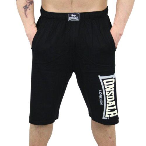 Lonsdale Short Jam en jersey pour homme - Noir - Taille normale - Noir - X-Large