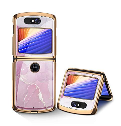 Hauw Hülle für Motorola razr 5G Handyhülle,Kratzfeste Rückseite aus gehärtetem Glas für Motorola razr 5G,Muster 4