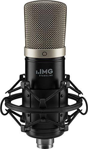 IMG Micrófono de Condensador Stageline ECMS-50USB con Membrana Grande, micrófono USB para grabación doméstica exigente, Color Negro, Plug and Play