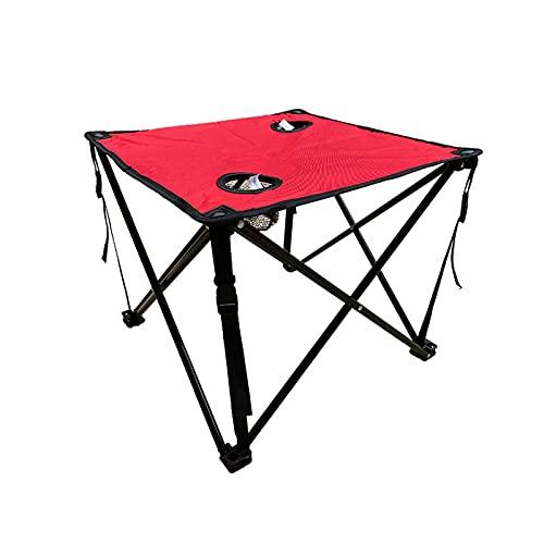ZJJX Camping Klapptisch, Outdoor Faltbar, Quadratischer Campingtisch Tragbar Oxford Tuch mit Flaschenhalter Mesh für Picknick, Camp, Strand, Boot, leicht zu Reinigen
