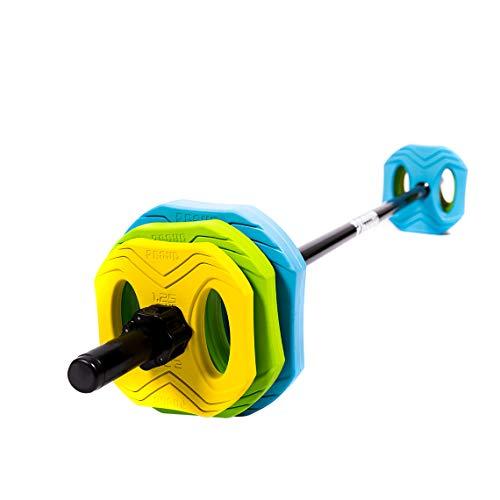 PROUD 1 Langhantelset Pump Colour Hantel Core Training Gym Werkzeug Gewichte (39.5)