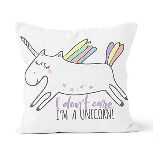 Funda de cojín de unicornio, diseño de poney arcoíris para el hogar, dormitorio, cojín...