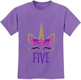 Gift for 5 Year Old Girl Unicorn 5th Birthday Youth Kids T-Shirt