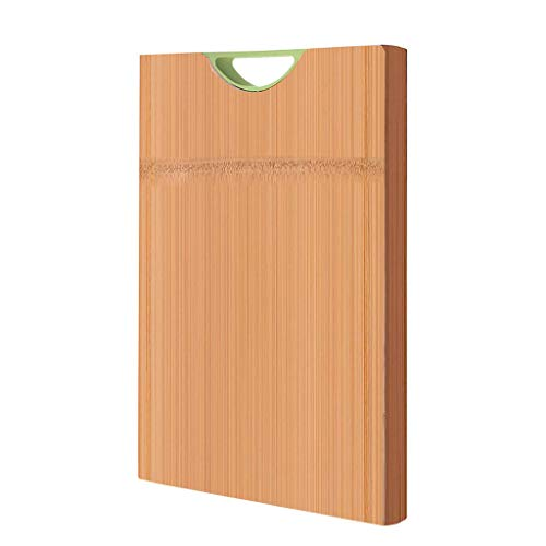 Wyxy Tabla de Cortar de bambú Entera, Tablas de Cortar rectangulares Grandes con Agarre Manual para Cocina, lo Mejor para Picar Carne/Verduras y Frutas, Respetuoso con el Medio Ambiente