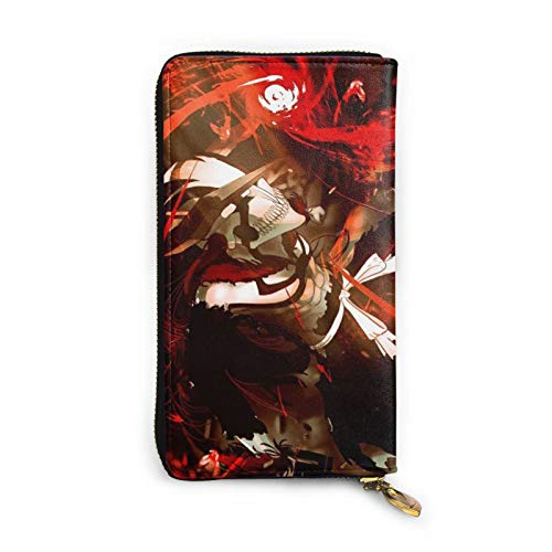 Bleach Vasto Lorde - Cartera de piel hueca con cremallera de piel, personalización personalizada, funda para tarjetas, gran capacidad, resistente y duradera