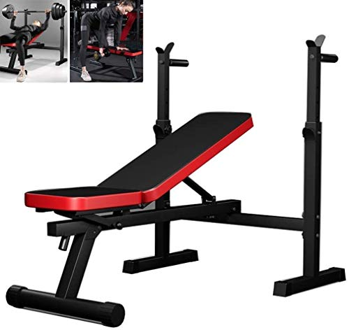 AINH Bench Press Gym Training Hogar Barbell Rack Peso Bancos Banco Plegable Press Taburetes Multifuncional Multifuncional Bench Press Racks
