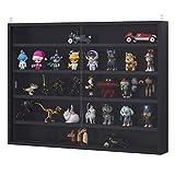 HOMCOM 5-Tier Wall Display Shelf Unit Cabinet w/ 4 Adjustable Shelves <span class='highlight'>Glass</span> Doors Home Office Ornaments 60x80cm Black