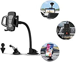 Car Phone Mount, 3 in 1 Universal Cell Phone Holder Car Air Vent Holder Dashboard Mount Windshield Mount for Samsung Galaxy S9 S8 Edge S7 S6 LG Sony iPhone Xs Max R X 8 Plus 7 Plus 6S