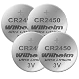 Robust und verlässlich, egal ob bei Hoch- oder Niedertemperaturbetrieb von ?20 °C bis +60 °C Andere Bezeichnungen sind CR2450 : CR-2450, DL2450, KL2450, KECR2450, LM2450, ECR2450, KCR2450, KECR2430, BR2450, 6450 Durchmesser: 24 mm Höhe 5 mm Li-Mn, Ka...