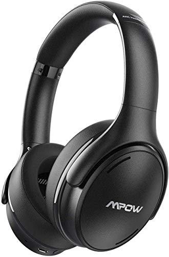 Mpow H19 IPO Cuffie Noise Cancelling,Cuffie Over-ear Autonomia 35 Ore Ricarica Rapida,Cuffie Bluetooth 5.0,Cuffie Cancellazione Rumore Suono Hi-Fi,CVC 8.0 Cuffie Riduzione del Rumore Per Cellullari/PC